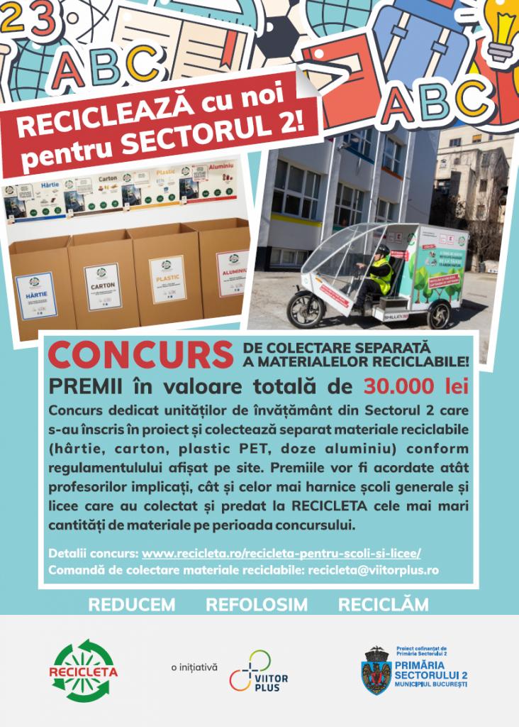 CONCURS Recicleaza cu noi pentru Sectorul 2!